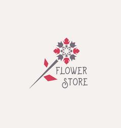 flower store emblem vector image vector image