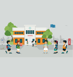 go to school vector image