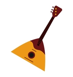 Guitar triangle icon flat style vector image vector image