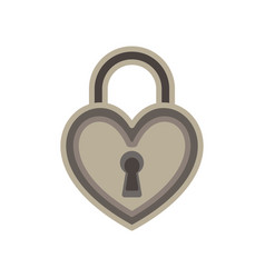 heart lock love padlock key keyhole icon symbol vector image