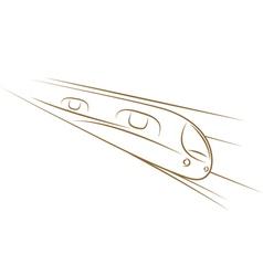 high-speed train sketch vector image vector image
