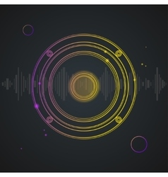 Music Background Colorful Outline Loudspeaker vector image