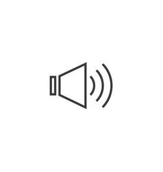 sound audio icon line style vector image