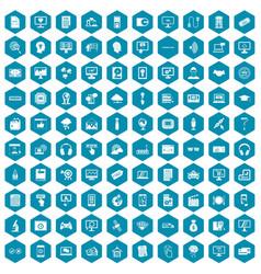 100 website icons sapphirine violet vector image