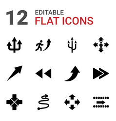 12 forward icons vector