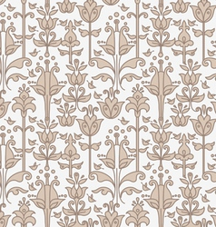 abstract floral seamless pattern with birds vector image vector image