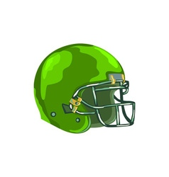 American Football Helmet Green WPA vector