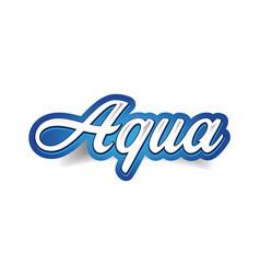 Aqua - spring water label tag vector