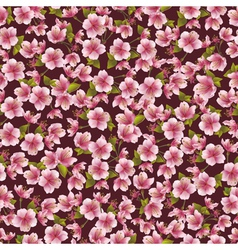 Background seamless pattern with sakura blossom vector
