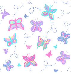 Buzzing butterflies pastel vector