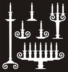candle stands vector image