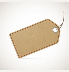cardboard vintage price tag in retro style vector image
