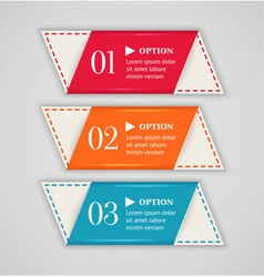 Colorful options banner or label template vector