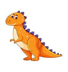 cute orange dinosaur character vector image