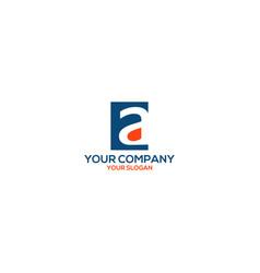 Ea rectangle logo design vector