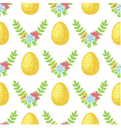 Easter cartoon seamless pattern background vector