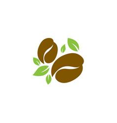 eco coffee logo icon design vector image