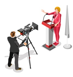 Election News Infographic Us Spokeswoman Isometric vector image