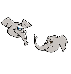 Elephant heads vector