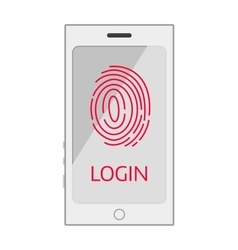 finger screen mobile vector image