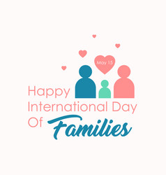 flat design international day families vector image