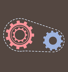 gears cogwheels symbolizing unity and process vector image