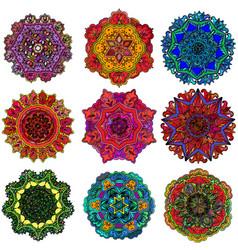 Geometric ornament design concentric circles vector