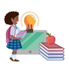 girl kid school design vector image