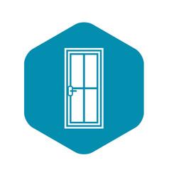 Glass door icon simple style vector
