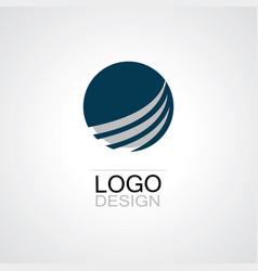 globe swirl technology logo vector image