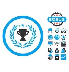 Glory Flat Icon with Bonus vector image