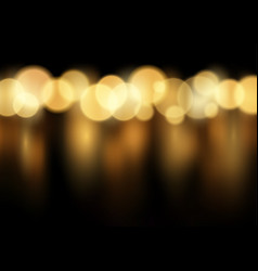 Gold bokeh lights background vector