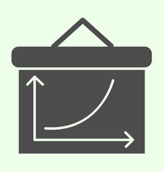 Graph board solid icon business growing chart vector