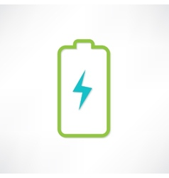 Green battery vector image