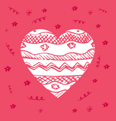 greeting card for valentines day or world heart vector image