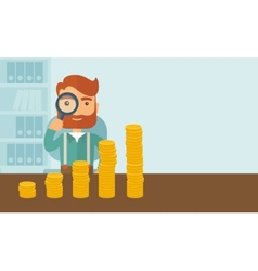 Growing business in financial aspects vector