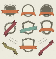 grunge shields labels and banners vector image