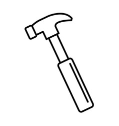 Hammer construction tool isolated icon vector