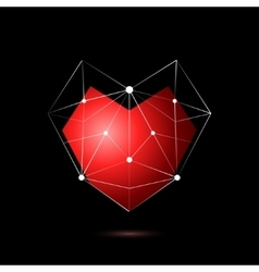 Heart shape symbol isolated on black background vector image vector image