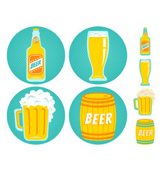 icons beer vector image
