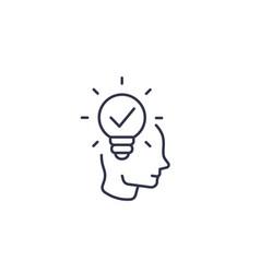 Idea insight creative thinking line icon vector