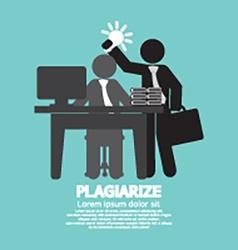 Idea Stolen Symbol Graphic Plagiarize Concept vector image