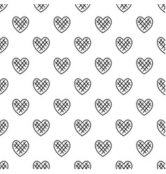 Impressionable heart pattern seamless vector