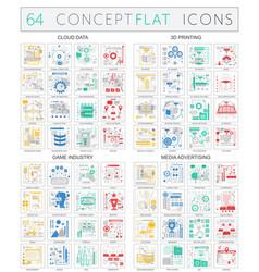 Infographics concept icons cloud data 3d vector