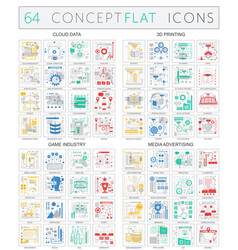 Infographics concept icons of cloud data 3d vector
