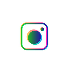 instagram symbol social media isolated icon logo vector image