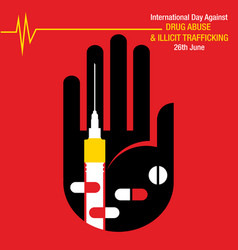 International day against drug abuse vector