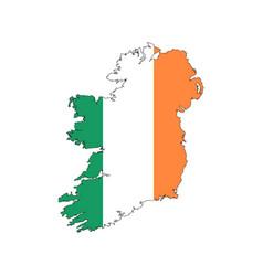 Ireland map flag vector