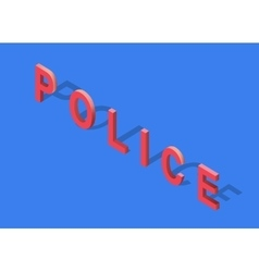 Isometric 3D Police Text vector
