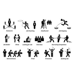 Job career and employment icons set concept of vector